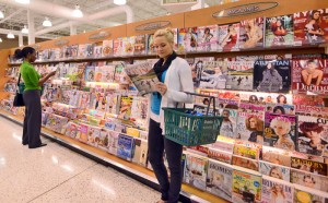 Well merchandised magazines