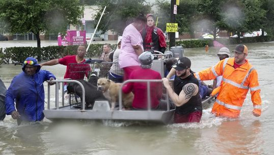 Relief efforts in Houston; image courtesy of USA Today
